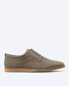 Frank Wright Kane Leather Casual Lace Ups Grey