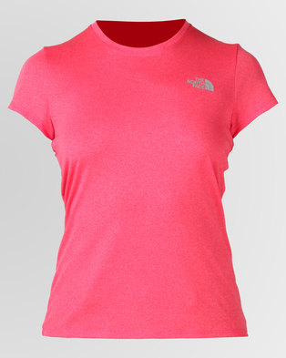 The North Face Reaxion Amp Crew T Shirt Pink