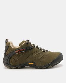 Merrell Chameleon II Leather Hiking Shoes Wintergreen