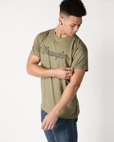Wrangler Classic T Shirt Dusty Green