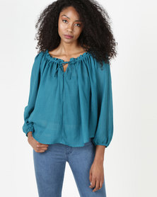 Nucleus Truly Blouse Teal
