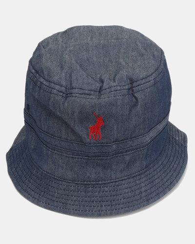 f62f730dd3e3be Polo Nautical Monogram Bucket Hat Black | Zando