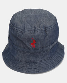 Polo Mens Reversible Bucket Hat Dark Blue