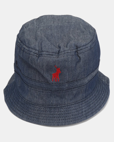 Polo Mens Reversible Bucket Hat Dark Blue  d979de87a02