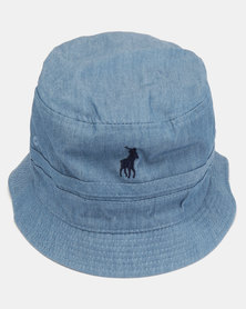 Polo Mens Reversible Bucket Hat Light Blue