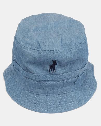 daaafc0b6c4 Polo Mens Reversible Bucket Hat Light Blue