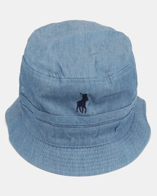 371810ba733 Polo Mens Reversible Bucket Hat Light Blue