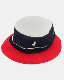 Polo Nautical Monogram Bucket Hat Navy