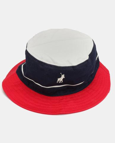 fe4f1a7b5e4404 Polo Nautical Monogram Bucket Hat Navy | Zando