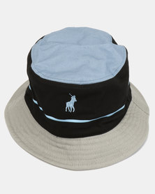Polo Nautical Monogram Bucket Hat Black