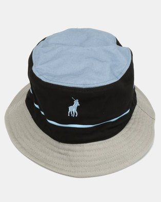 80b17e09a3e Polo Nautical Monogram Bucket Hat Black. Quick View