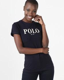 Polo Zoe Short Sleeve Printed T-Shirt Navy