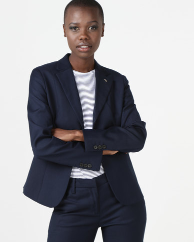 Polo Taylor Long Sleeve Suit Blazer Navy