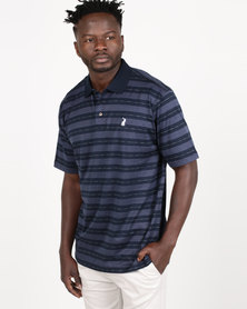 Polo Mens Classic Double Mercerized Golfer Navy