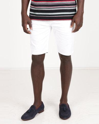 Polo Milano Stretch Chino Shorts White