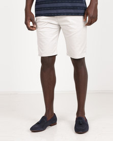 Polo Milano Stretch Chino Shorts Light Stone