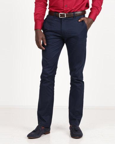Polo Men's Cotton Stretch Straight Leg Chinos Navy