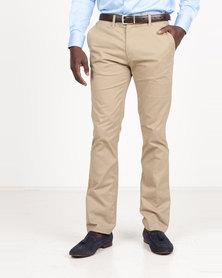 Polo Men's Cotton Stretch Straight Leg Chinos Khaki