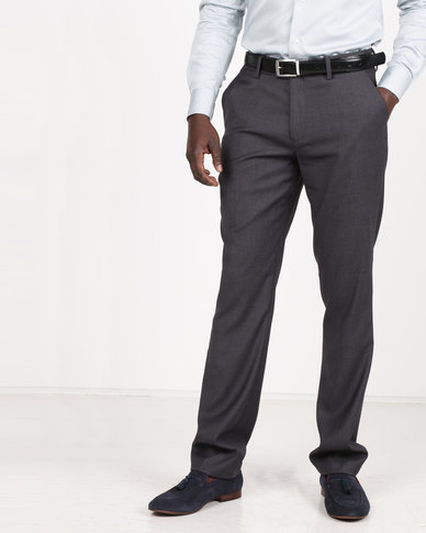 Polo Men's Classic Custom Fit Formal Trousers Charcoal