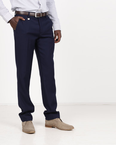 Polo Men's Classic Custom Fit Formal Trousers Royal