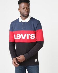 Levi's ® Mighty Made™Blocked Rugby Polo Multi
