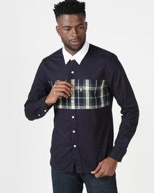 Levi's ® Pieced Sunset One Pocket Shirt Sky Captain Multi