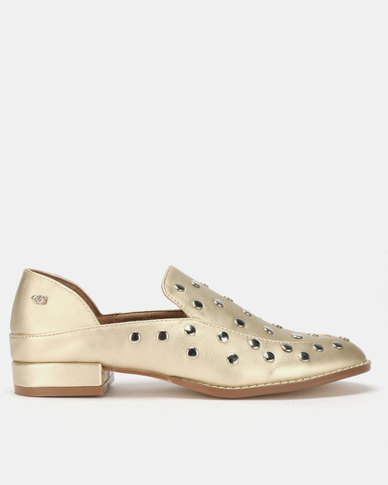 1f87d324ecf Miss Black Anovic Loafers Gold