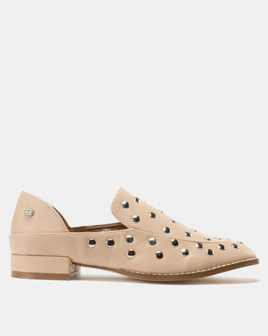 Miss Black Anovic Studded Shoes Pink