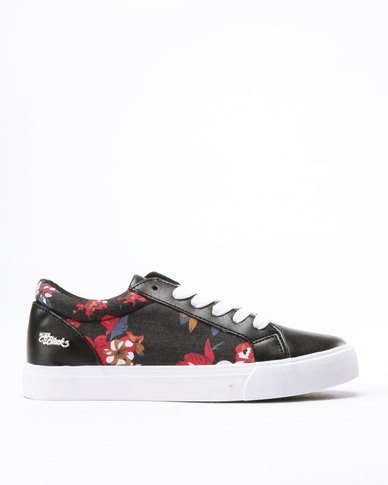 Miss Black Baker Lace Up Sneakers Black