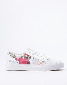 Miss Black Baker Lace Up Sneakers White