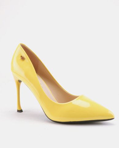 Miss Black Cannor Heeled Courts Yellow