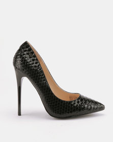 Miss Black Swan Heeled Courts Black
