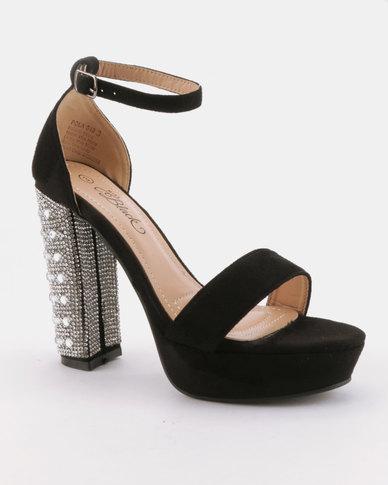 Miss Black Pola Platform Sandals Black