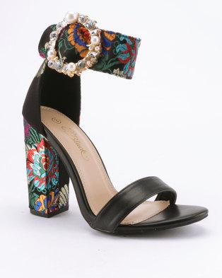 1eec492f063 Miss Black Cheh Heeled Sandals Black