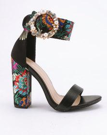 Miss Black Cheh Heeled Sandals Black