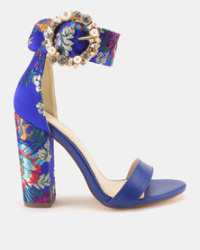 Miss Black Cheh Heeled Sandals Blue
