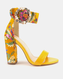 Miss Black Cheh Heeled Sandals Yellow