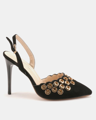 Miss Black Mekhi Slingback Heels Black