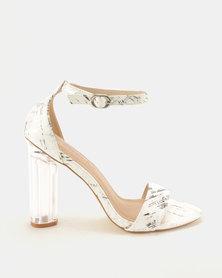 Ronni Heeled Sandals White