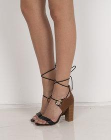 Miss Black Adamina Heeled Sandals Black / Brown