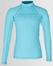 Lizzard Boys Navarro Long Sleeve Rash Vest Blue Atol
