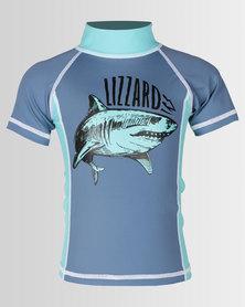 Lizzard Tots Lysander Rash Vest Copen Blue
