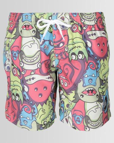 Lizzard Boys Monster Mania Shorts Multi