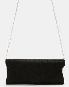 Klines Glam Envelope Clutch Bag Black