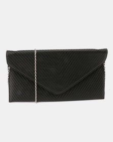 Klines Glitz Envelope Clutch Bag Black