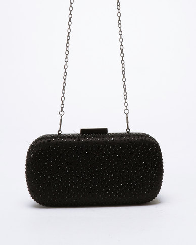 Klines Embelished Clutch Bag Black