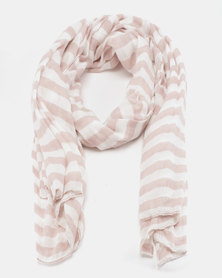Klines Striped Light Weight Scarf Neutral