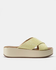 Butterfly Feet Sama Cross Strap Flatform Yellow