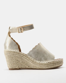 9b5bab53c09 Butterfly Feet Paton Espadrille Wedges Champagne