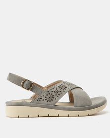 Butterfly Feet Shifa Lasered Sandals Grey